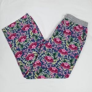 Anthro E by Eloise Floral Lounge Pants Small